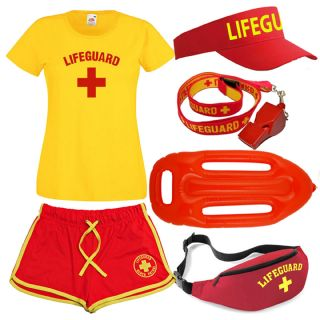 LADIES LIFEGUARD + T-SHIRT + SHORTS SETS